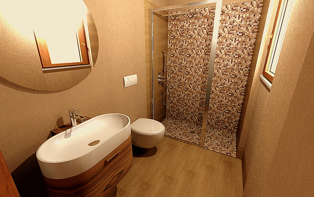 Bagno con doccia mosaico rg84 regardsdefemmes - Bagni con doccia moderni ...