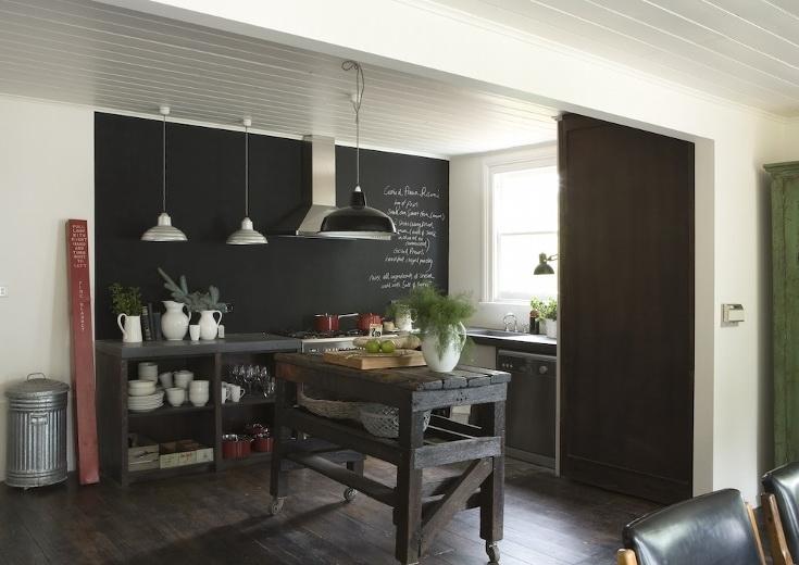 Sentito parlare della vernice lavagna arredarelowcost - Parete lavagna cucina ...